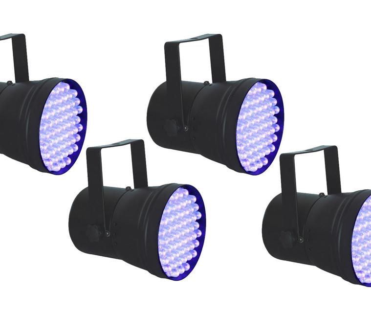 Pack 4 focos llum negra
