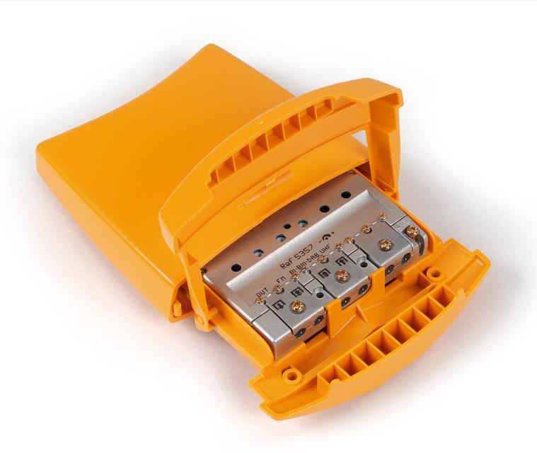 alimentador amplificador mastil